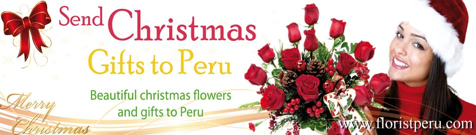 christmas flower arrangements to Lima Peru, christmas flowers to Peru
