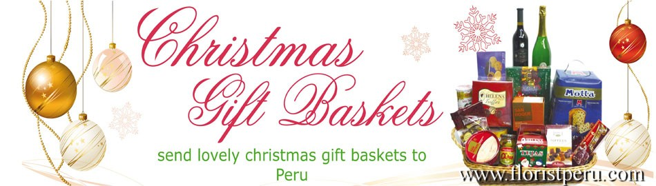 christmas gift baskets to Peru, christmas gifts to Peru